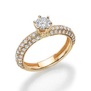 золотые кольца фото с одним камнем