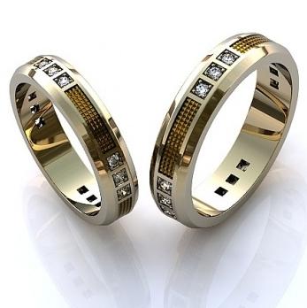 Обручальные кольца недорогие из белого золота