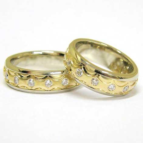 0c7b7ce9b2b7 Обручальное кольцо из желтого золота с бриллиантами 8655Е - заказать ...